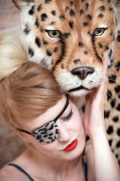 Augenklappe Leo  Leopard von soulita auf Etsy