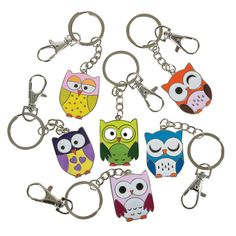 Owl Keychains. Fun game prizes for your Origami Owl Jewelry Bar. $1.69 each, $14.19 per dozen.  http://www.partypalooza.com/Merchant2/merchant.mvc?Screen=PRODProduct_Code=OwlKC
