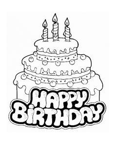 Birthday Cake Clip Art Free Black And White To