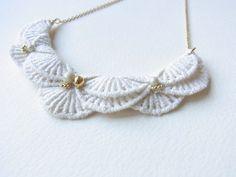 An Meru Lace Necklace  Limited edition par HOMAKO sur Etsy, $50,00