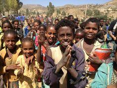 Ethiopian children singing songs