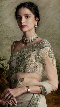 89 best Sabyasachi Sarees photos by Indian Bridal Outfits, Indian Dresses, Indian Attire, Indian Ethnic Wear, Saris, Sabyasachi Sarees, Bollywood Saree, Bollywood Fashion, Anarkali