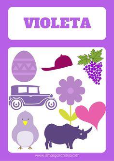 ficha para aprender el color violeta aprender el morado