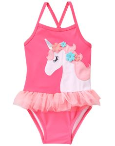 Toddler Girl Bright Rose Unicorn Swimsuit by Gymboree Girls Summer Outfits, Toddler Girl Outfits, Kids Outfits, Toddler Shoes, Toddler Girls, Stylish Outfits, Unicorn Swimsuit, Baby Swimsuit, Baby Girl Fashion