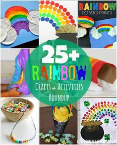 25+ Rainbow Crafts & Activities Roundup + Giveaway