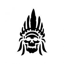 Chief Skull Stencil