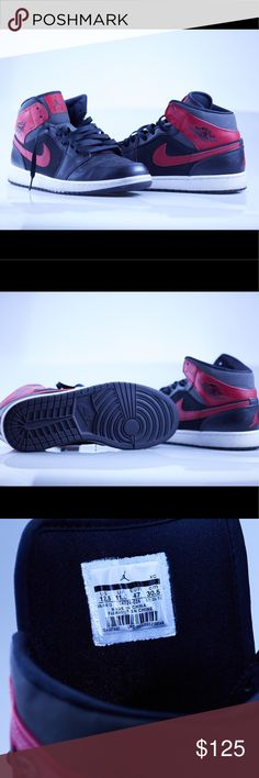 Nike Air Jordan's (Size 12.5) Black / Red / Suede