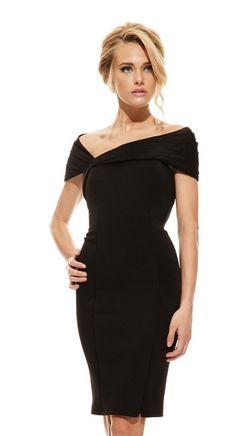 Johnathan Kayne Off the Shoulder Midi Dress