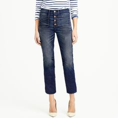 Point Sur vintage patch-pocket cropped jean  item B9090  $258.00      Point Sur vintage patch-pocket cropped jean