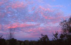 Sky Blue Pink Clouds, Sky, Celestial, Sunset, Pink, Blue, Outdoor, Heaven, Outdoors
