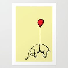 Paint a large elephant picture, something like this or the one I draw frequently holding the balloon to go over the bed.