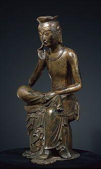 Gilt-bronze Maitreya in Meditation (National Treasure No. 83) - Wikipedia, the free encyclopedia