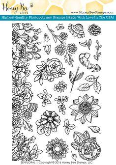 Honey Bee Stamps - Zen Floral | 4x6 Stamp Set, $14.95 (http://shop.honeybeestamps.com/zen-floral-4x6-stamp-set/)