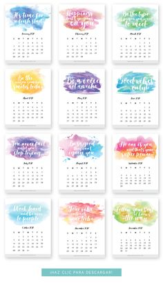 Monthly Printable Calendar 2018 free with quotes