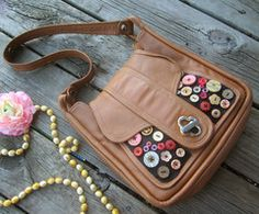 Embellished Button Purse