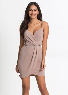 Sukienka z dżerseju z paskiem Piękna • 129.99 zł • bonprix