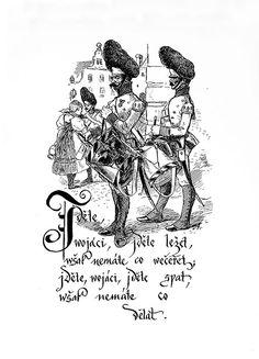 Mikoláš Aleš: Jděte vojáci http://www.herbia.cz/products-page/pohlednice/umelecke/page/6/