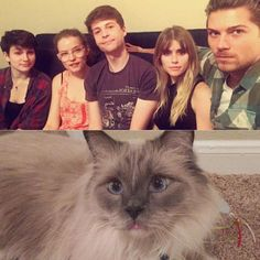 Carlson Young, her hot 'Scream' co-stars and her cat, of course.