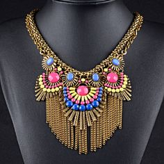 Colorful Statement Necklace Beautiful and chic! Jewelry Necklaces