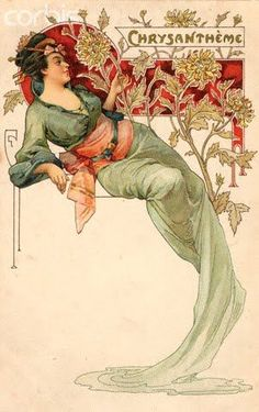 Alphonse Mucha  - Chrysantheme