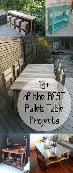 15+ of the BEST Pallet Table Projects