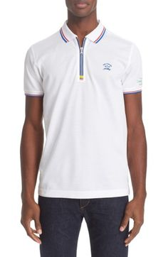 Free shipping and returns on Paul  amp  Shark  Nautical  Zipper Polo at  Nordstrom d093a2cc5526