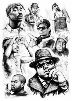 Easy E Ice Cube Biggie