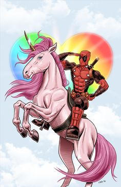 #Deadpool #Fan #Art. (Deadpool Unicorn) By: Robb Miller aka Robbgoblin. (THE * 3 * STÅR * ÅWARD OF: AW YEAH, IT'S MAJOR ÅWESOMENESS!!!™) [THANK U 4 PINNING!!!<·><]<©>ÅÅÅ+(OB4E)