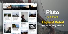 Pluto v3.1 – Clean Personal WordPress Masonry Blog Theme