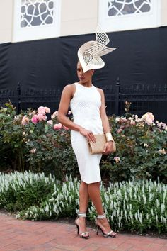 Spring Racing Carnival inspiration... Winner of the Millinery Award 2013 - Myer Fashions on the Field - Melbourne Cup