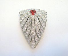 Vintage Dress Clip Art Deco Rhinestone Crystal by VintageStreet, $50.00