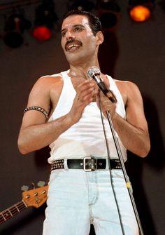 Freddie Mercury 1980s Live Aid