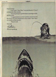 Congratulations from Steven Spielberg to George Lucas - Imgur