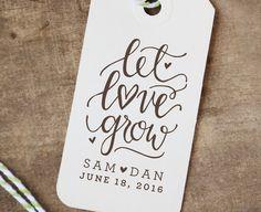 Gepersonaliseerde Let Love Grow Rubberstempel door YourNewFriendSam
