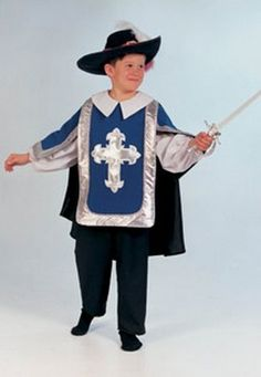 Brand New Royal Musketeer Child Costume Large