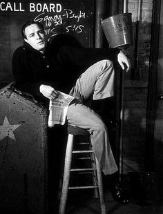 Marlon Brando backstage