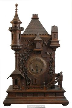 Clock Hourglass Time:  Cuckoo mantel #clock.