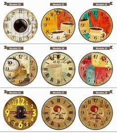 Relógio De Parede Estilo Rústico Vintage Retrô Café Cozinha - R$ 28,90