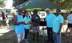 Neighboring neighborhood associations at We Love Long Beach's Ice Cream Social