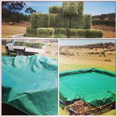 Gravette man 39 s hay bale pool pool pinterest - Redneck swimming pool with hay bales ...
