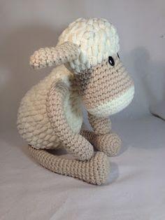 El Gnomo De Ganchillo: Oveja amigurumi/ Amigurumi sheep Dinosaur Stuffed Animal, Toys, Crochet, Animals, Sheep, Gnomes, Crocheting, Amigurumi, Activity Toys