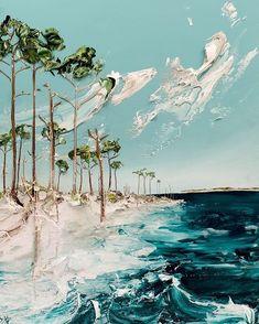 Seascape Acrylfarbe Justin Gaffrey Blue Mountain Beach Bilder painting ideas on canvas acrylics Easy Paintings, Landscape Paintings, Acrylic Paintings, Acrylic Art Paintings, Decorative Paintings, Portrait Paintings, Indian Paintings, Seascape Paintings, Colorful Paintings