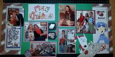 Christmas baking scrapbook layout www.Justkitting.citymax.com