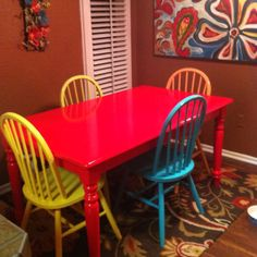 My newly painted table :)