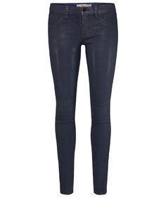 "J Brand Coated Denim ""Low Rise Super Skinny""   #trend #www.fashion.engelhorn.de"