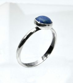 Denim Lapis, Sterling Silver Ring