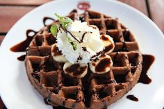 Delicious Chocolate Waffles