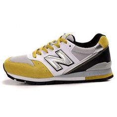 Men New Balance 996 White Yellow Mesh Running Shoes