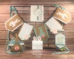 Stampin Friends Spring Blog Hop   Stampin' Up!   Number of Years   Easter Lamb   Flower Patch   Grateful Bunch   Fab Friday #FabFri82 #literallymyjoy #bunny #easter #spring #treatholders #homedecor #2016OccasionsCatalog