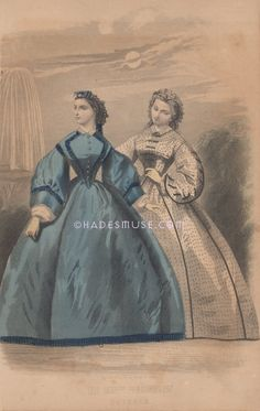 October 1862 Full MoonVictorian DressesLes Modes by HadesMuse on Etsy, $25.00